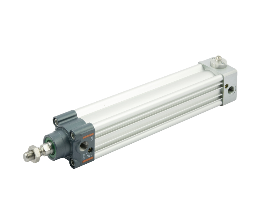 ISO 15552 cylinder with end-of-stroke stop